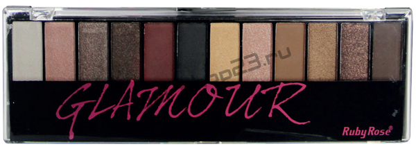 Ruby Rose - Тени для век №HB-9907 Glamour 12-ти цветные