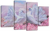 Модульная картина Пара голубей