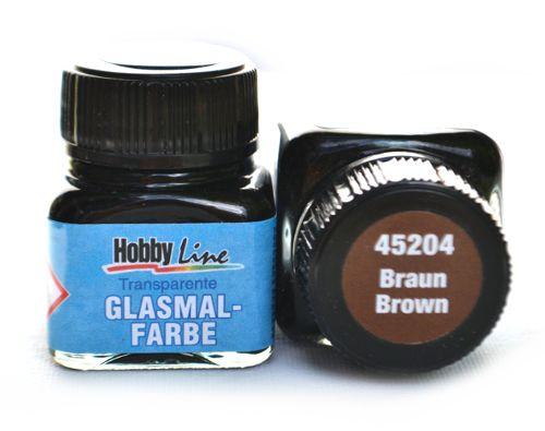 Витражная лаковая краска Hobby line, цвет 45204 Brown, 20 мл