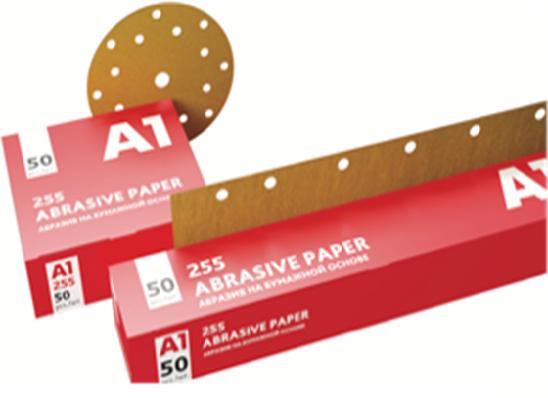 А1 255 Абразив на бумажной основе в кругах 15 отверстий, 150мм., P400, (упаковка 50 шт.)