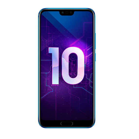 Honor 10 4/128 ГБ (мерцающий синий)