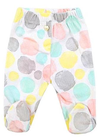 Ползунки Цветные круги для малыша 3 месяцев