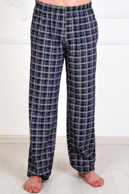 Мужские трикотажные брюки с карманами (темные), кулирка