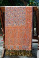 Индийский двухсторонний палантин из мягкого плотного хлопка. Купить в СПб