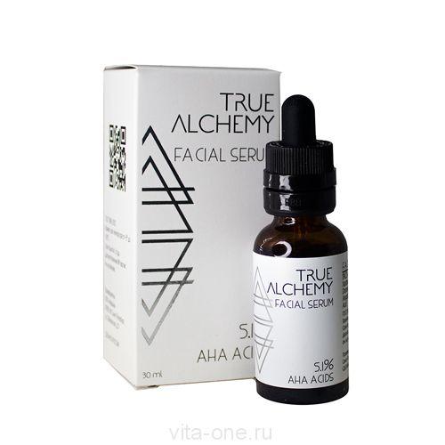 Сыворотка для лица AHA Acids 5.1% True Alchemy Levrana (Леврана) 30 мл