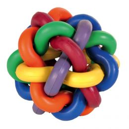 Игрушка для собак Узловой мячик с бубенчиком 10см
