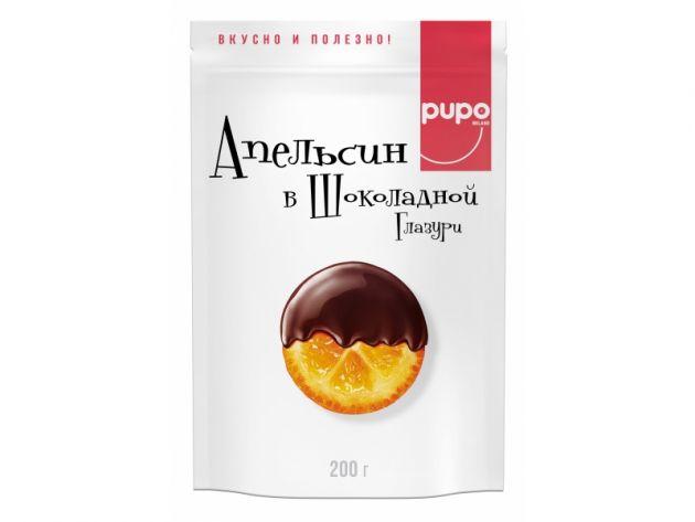 Конфеты PUPO Апельсин в глазури д/п 200г
