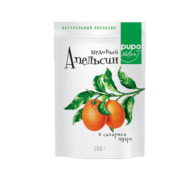 Конфеты PUPO Апельсин медовый д/п 200г