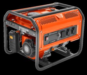 Генератор Husqvarna G2500P (Двигатель Husqvarna, 196cм3, ручной запуск, 2.2 кВт(макс.), 230В, 50Гц, 1 фаза, преобразователь 12В)