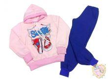 Костюм: толстовка розовая с капюшоном, штаны (код 01705-1) МАМИН МАЛЫШ OPTMM.RU