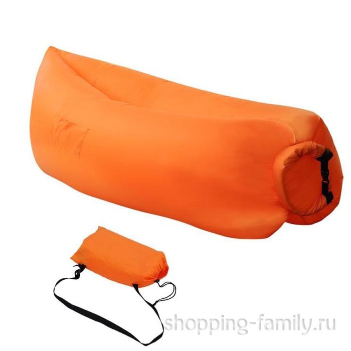 Надувной матрас гамак Lamzac (Ламзак), цвет оранжевый