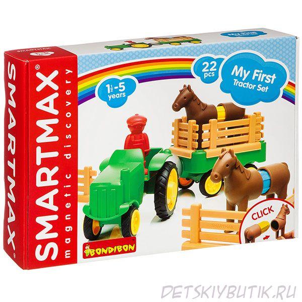 """""""Мой первый набор с трактором"""" - магнитный конструктор Bondibon SmartMax"""