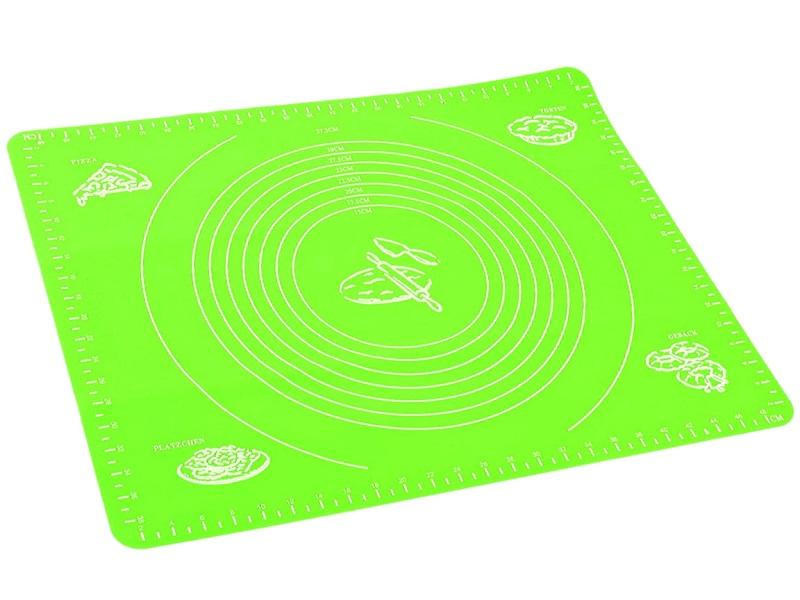 Силиконовый Коврик Для Раскатывания Теста, 50х40 См, Цвет Зеленый