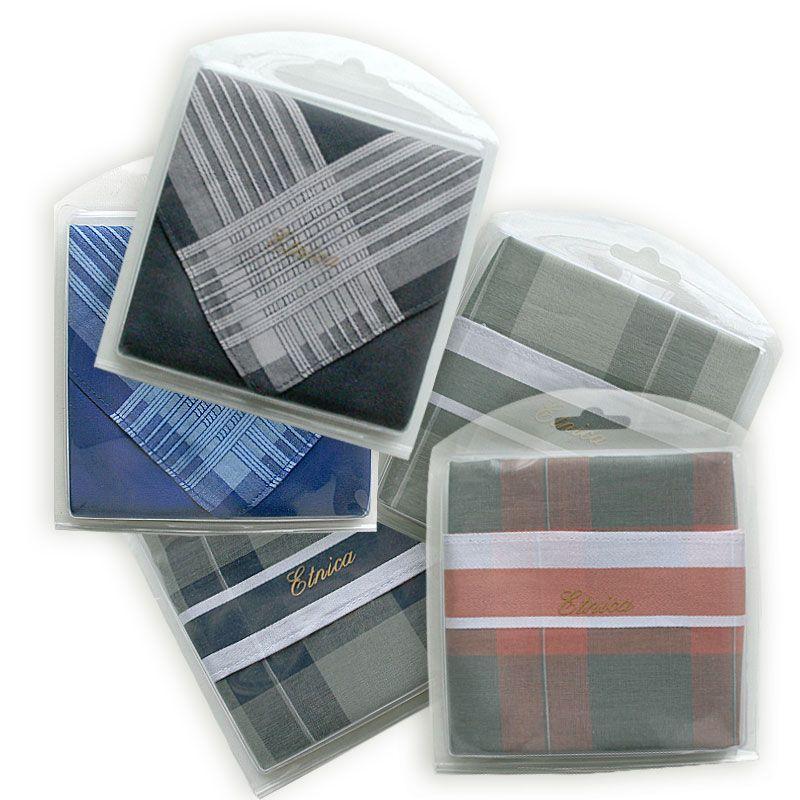 Мужской носовой платок с silk-эффектом в подарочной коробке Пд59 100% х/б