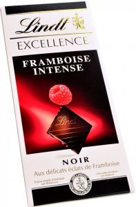 "Шоколад Lindt, ""Excellence"" Raspberry Intense, Dark Chocolate, 100 г"