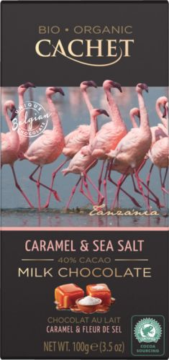 "Шоколад ""Cachet"" Milk Chocolate With Caramel & Sea Salt Tanzania, 40% Cocoa, 100 г"