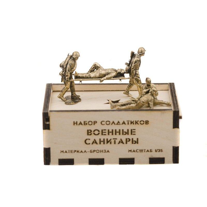 Набор солдатиков. Советские санитары 5 шт