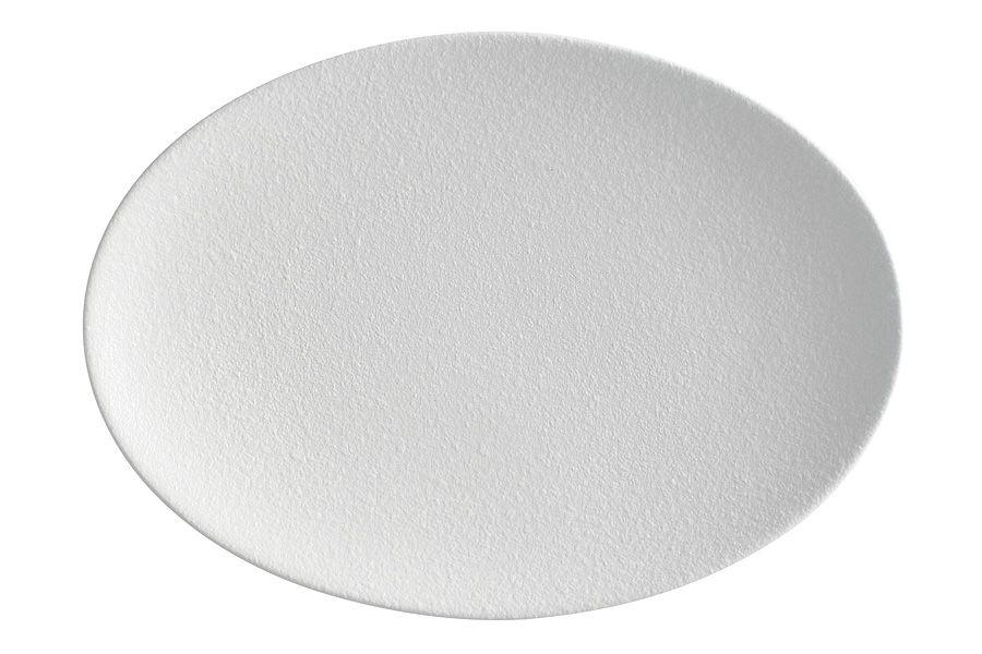 """Тарелка овальная """"Икра"""" (белая) 30х22 см"""