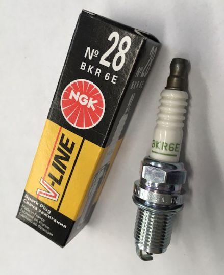 Свечи зажигания V-Line №28 (4856) BKR6E NGK к-т(4 шт)