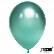 "Шар (12""/ 30 см), зелёный, хром, 50 шт"