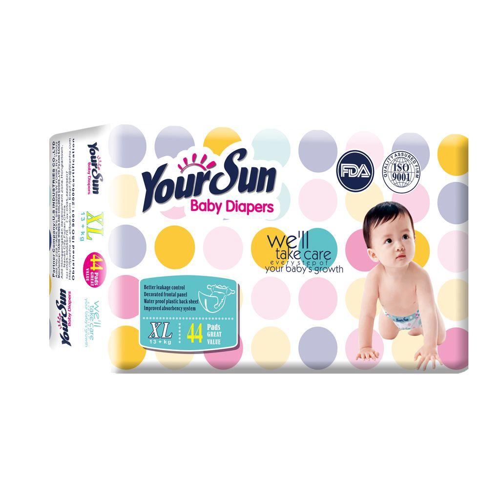 YourSun Подгузники Размер: XL Вложение: 44шт. Вес ребенка: 13-20 кг.