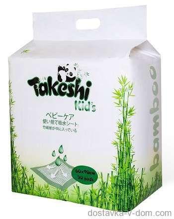 Takeshi Kid's ПЕЛЕНКИ ГИГИЕНИЧЕСКИЕ 60 х 90 30 ШТ