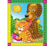 """Мозаика из пайеток """"Котенок и собачка"""", А4 (арт. М-4353)"""