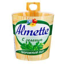 Сливочный сыр Almette c зеленью 150 гр.