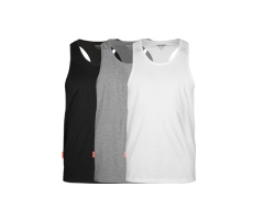 3802  Pima Cotton Singlet 3 Pack Grey/Black/White tops [eng]