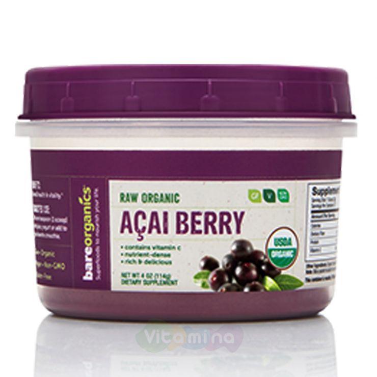 BareOrganics Порошок ягод Асаи Acai Fruit Powder (Organic), 114 г