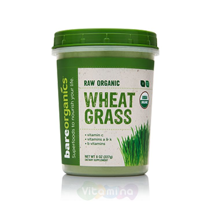 BareOrganics Порошок пшеницы Wheatgrass Powder (Raw - Organic)