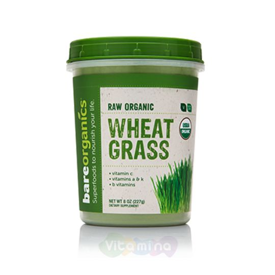 BareOrganics Порошок пшеницы Wheatgrass Powder (Raw - Organic)