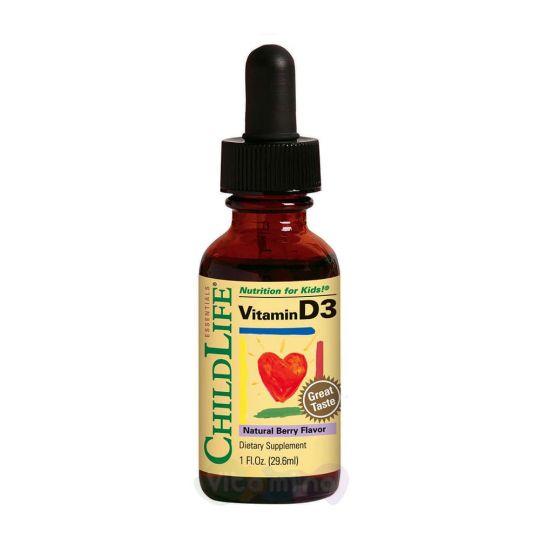 ChildLife Витамин Д3 для Детей со вкусом ягод, 29,6 мл