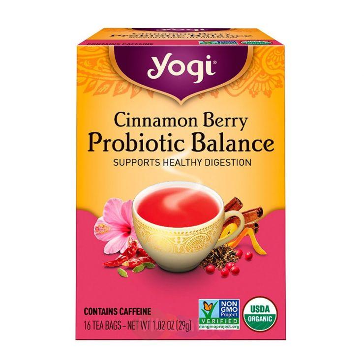 Yogi Tea Чай для Пищеварения Cinnamon Berry Probiotic Balance, 16 пакетиков
