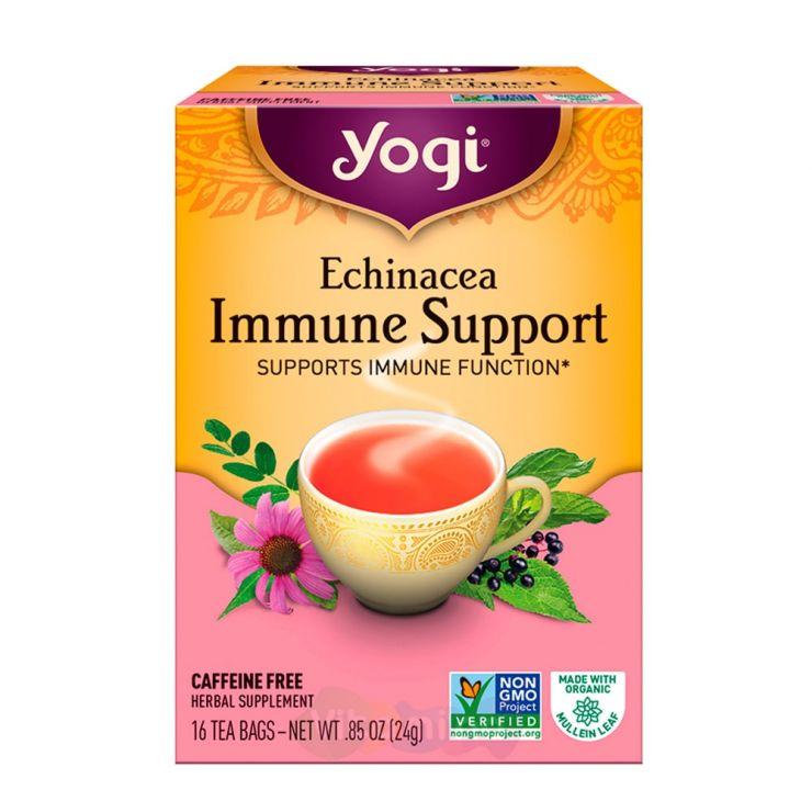 Yogi Tea Чай с Эхинацеей для Иммунитета Echinacea Immune Support, 16 пакетиков