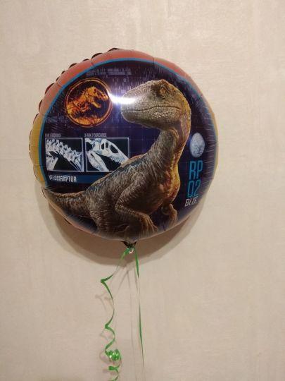 Динозавр Парк Юрского Периода шар фольгированный с гелием