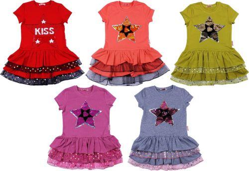 """Платье для девочек с пайетками """"БОНИТО"""" 5-8 лет BN1075"""
