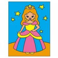 """Раскраска блёстками """"Принцесса"""", А5 (арт. Р-4372)"""