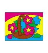 """Раскраска песком А5 """"Цветы в корзине"""" (арт. Р-4392)"""