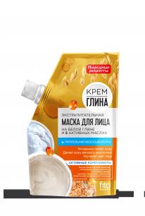 Маска для лица серии «Крем-глина Народные рецепты» экспрапитательная 50 г, дойпак