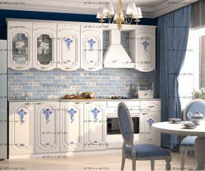 Кухня Лиза Синий цветок МДФ 2000