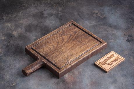 Доска для подачи стейка с круглой ручкой. Арт. 1253
