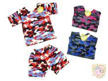 Костюм: футболка 2 кн. шорты kA-KS069(2)-SUk (рибана, камуфляж)