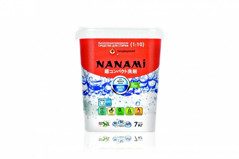 Стиральный порошок NANAMI для стирки белого белья 0,7кг
