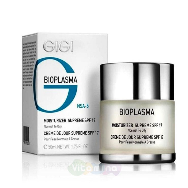 GiGi Крем увлажняющий для жирной кожи Bioplasma Moisturizer Supreme SPF17