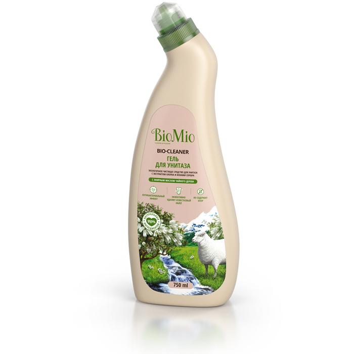 BioMio Bio-Toilet Cleaner Экологичное чистящее средство для унитаза с экстрактом хлопка и ионами серебра с эфирным маслом чайного дерева 750 мл