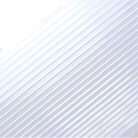 3D металлические наклейки полосы WHITE