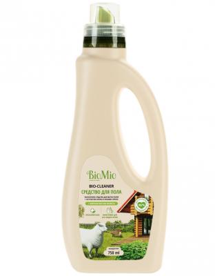 BioMio Bio-Floor Cleaner Экологичное средство для мытья полов с экстрактом хлопка и ионами серебра с эфирным маслом мелиссы 750 мл