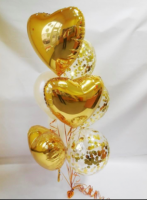 """Гелиевый букет """"Золотое сердце"""""""