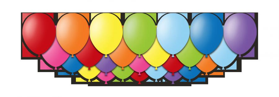 Набор воздушных шаров с гелием Радуга 25 штук